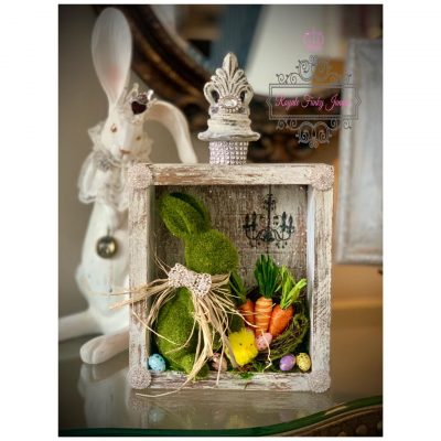 Vintage Glam Easter Shadow Box