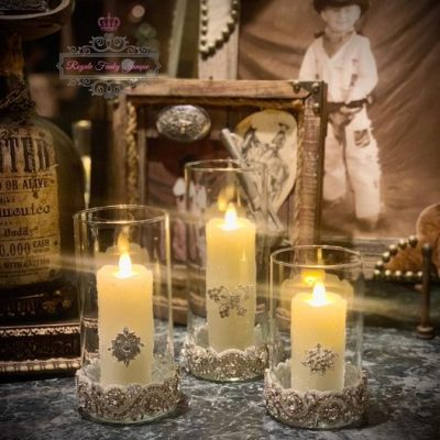 Glam Candle Centerpiece On A Budget