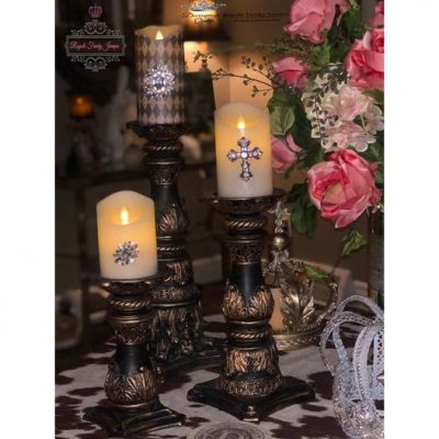 Decoupage Candle Makeover