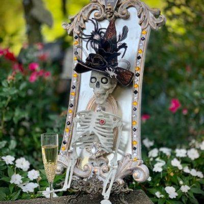 Halloween Skeleton Mirror