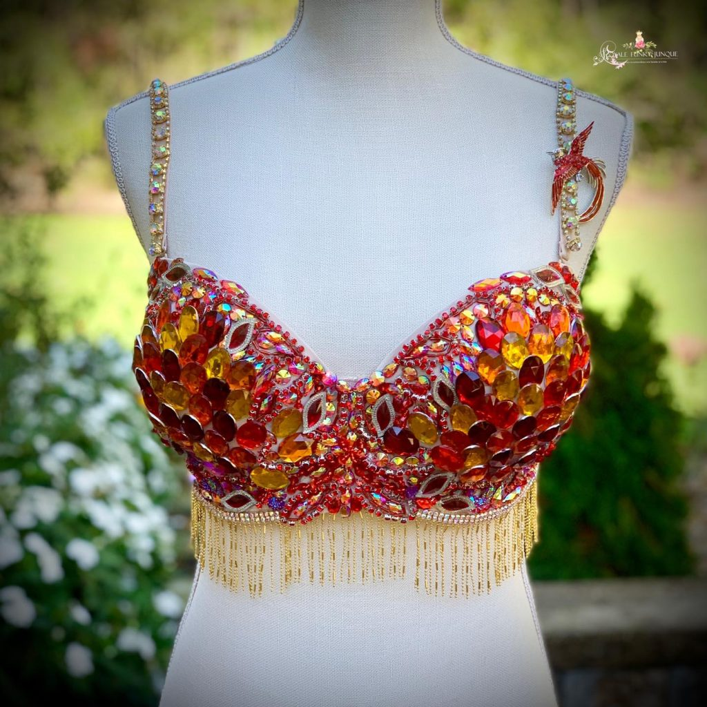 Embellished Bra, Belly Dancer Top DIY, Burlesque Top DIY